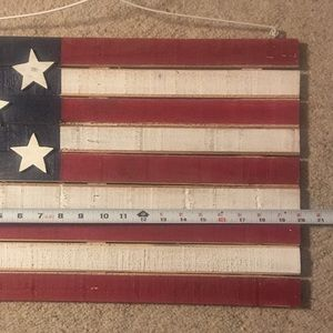 Other - American flag wooden wall hanging